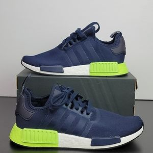 New Adidas NMD_R1 Boost Blue Green Men's Size 10
